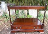 Mahogany Two Tier Lamp Table